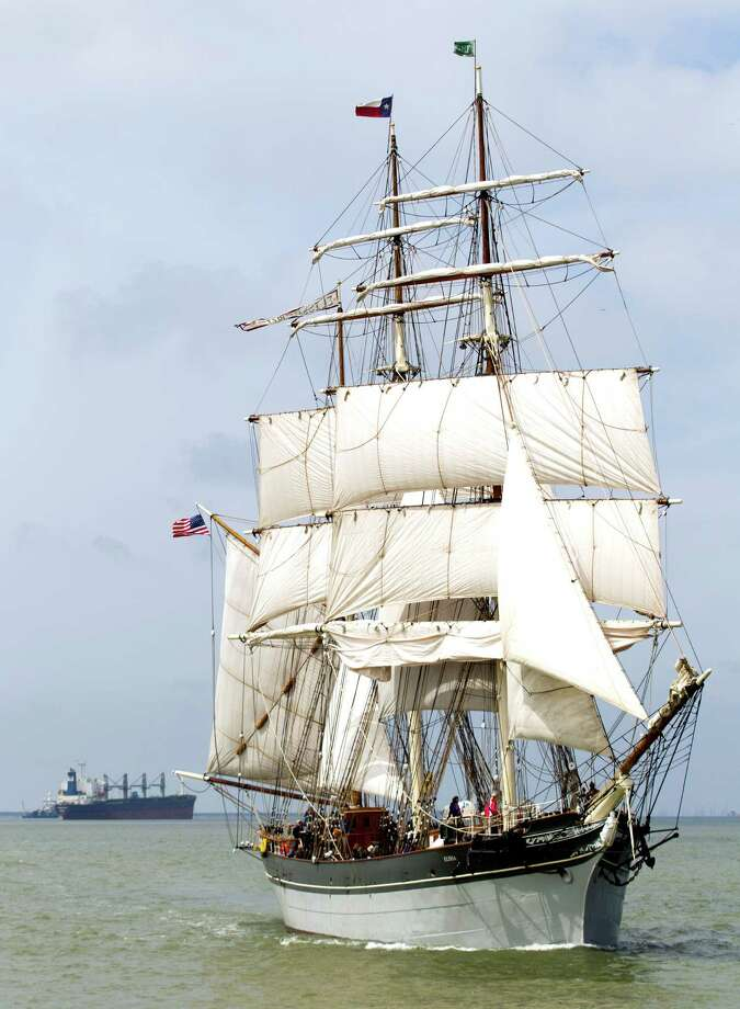 The 1877 tall ship Elissa sets sail for the first time in more than four years Saturday, March 29, 2014, in Galveston. Elissa once again returned to the open waters of the Gulf of Mexico with guests and supporters aboard for a first hand look at her completed restoration. Photo: Brett Coomer, Houston Chronicle / © 2014 Houston Chronicle