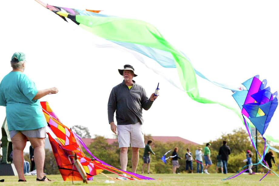 Kite enthusiasts attend the Hermann Park Kite Festival, Saturday, March 29, 2014, in Houston. Photo: Marie D. De Jesus, Houston Chronicle / © 2014 Houston Chronicle