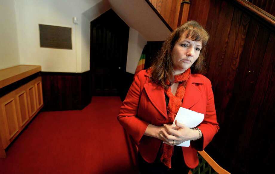 Kathy Willis of Petersburg, the mother of a child in rehab,  spoke to the addiction treatment and recovery advocacy group Tuesday morning at the Emmanuel Baptist Church  in Albany, N.Y.        (Skip Dickstein / Times Union) Photo: SKIP DICKSTEIN / 00025617A
