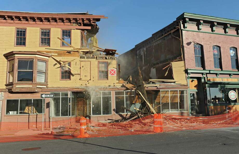 Buildings 4,6,8 and 10 on King St. in Troy before they are demolished Monday, Aug, 5, 2013 in Troy, N.Y. (Lori Van Buren / Times Union archive) Photo: Lori Van Buren / 00023428A
