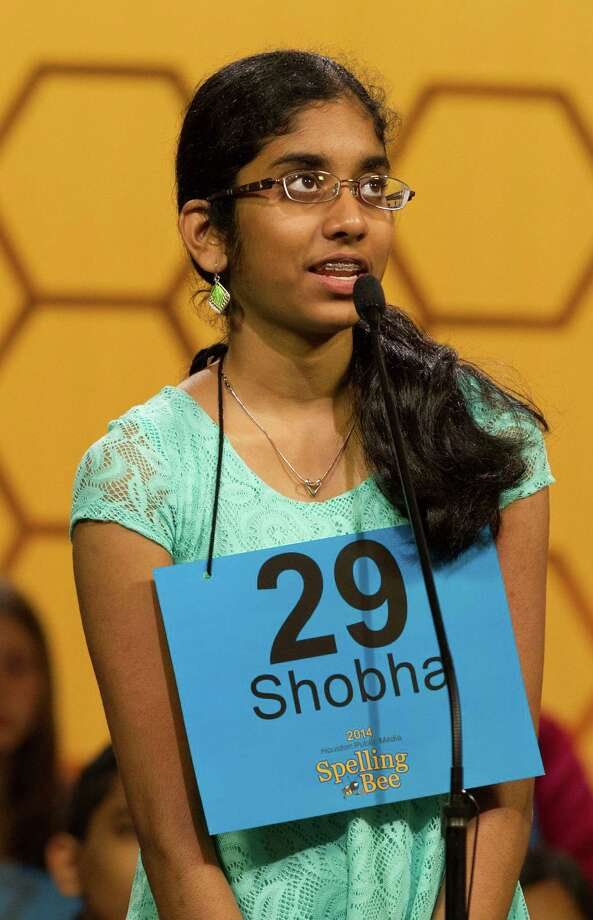 Shobha Dasari competes in the 2014 Houston Public Media Spelling Bee on Saturday, March 29, 2014, in Houston. ( J. Patric Schneider / For the Chronicle ) Photo: J. Patric Schneider, Freelance / © 2014 Houston Chronicle