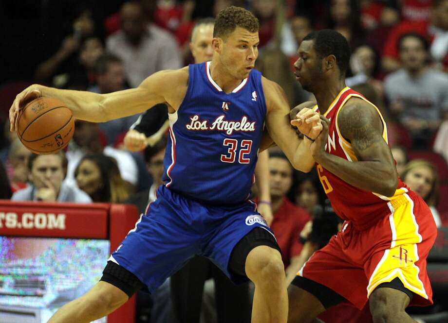 March 29: Clippers 118, Rockets 107Clippers forward Blake Griffin left, and Rockets forward Terrence Jones. Photo: James Nielsen, Houston Chronicle