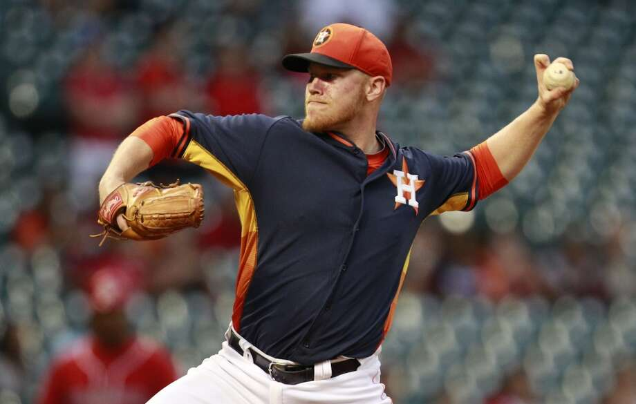 Astros P Brett Oberholtzer pitches against Veracruz. Photo: Melissa Phillip, Houston Chronicle