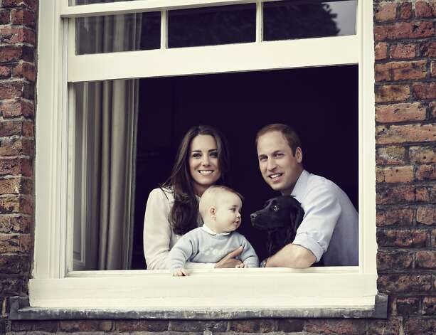 In this handout image provided by Jason Bell and Camera Press, Prince William, Duke of Cambridge, Catherine, Duchess of Cambridge and Prince George of Cambridge pose for an official family portrait at Kensington Palace, ahead of their tour to Australia and New Zealand, on March 18, 2014 in London, England.  (Mandatory Credit: Jason Bell/Camera Press via Getty Images) Getty Images provides access to this publicly distributed image for editorial purposes and is not the copyright owner. Additional permissions may be required and are the sole responsibility of the end user. Photo: Hanout, Getty Images