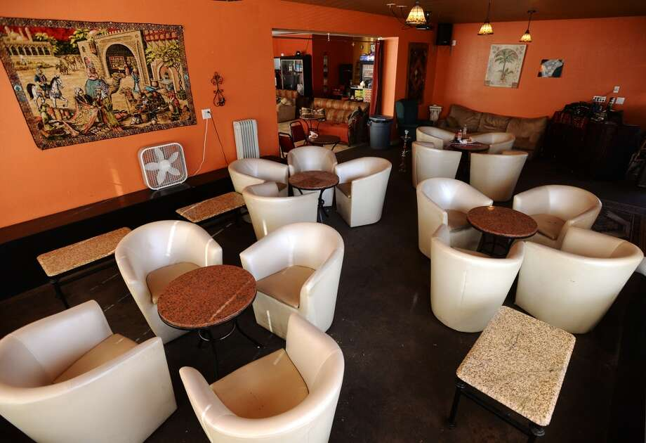 Pictured is one of the two main seating areas inside the Jerusalem Cafe on Tuesday. The Jerusalem Hookah Cafe has been serving up Middle Eastern cuisine as well as hookahs to the Beaumont area since 2009. Photo taken Tuesday, 3/18/14 Jake Daniels/@JakeD_in_SETX