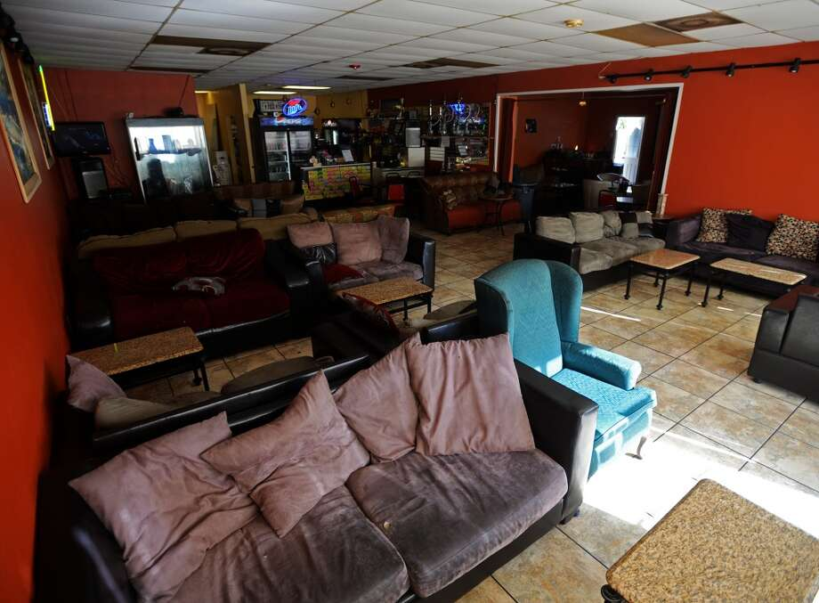 The inside of the Jerusalem Hookah Cafe is taken up with low couches and tables. The Jerusalem Hookah Cafe has been serving up Middle Eastern cuisine as well as hookahs to the Beaumont area since 2009. Photo taken Tuesday, 3/18/14 Jake Daniels/@JakeD_in_SETX