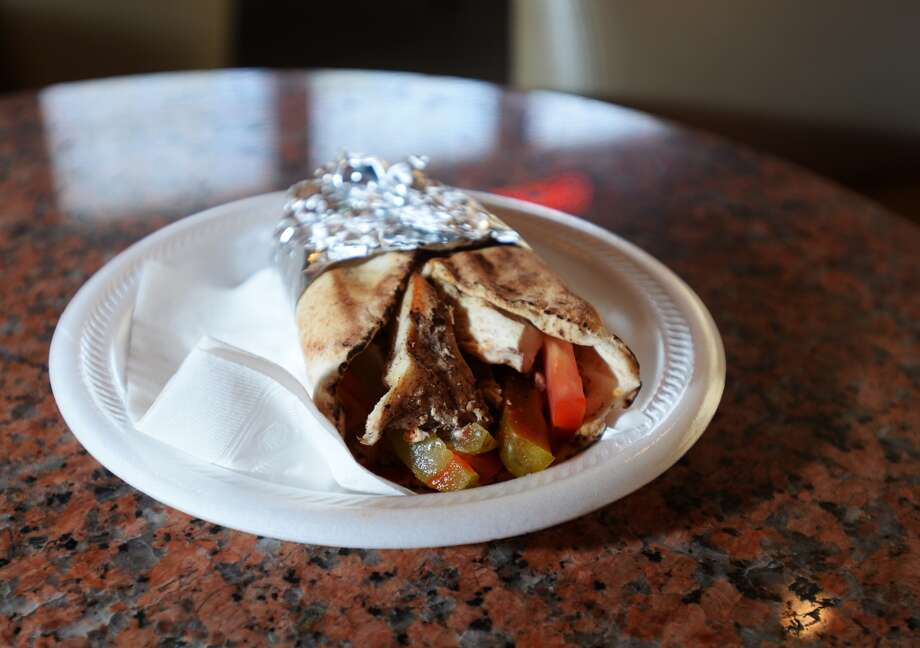 Pictured is the shawarma plate from the Jerusalem Hookah Cafe. The Jerusalem Hookah Cafe has been serving up Middle Eastern cuisine as well as hookahs to the Beaumont area since 2009. Photo taken Tuesday, 3/18/14 Jake Daniels/@JakeD_in_SETX