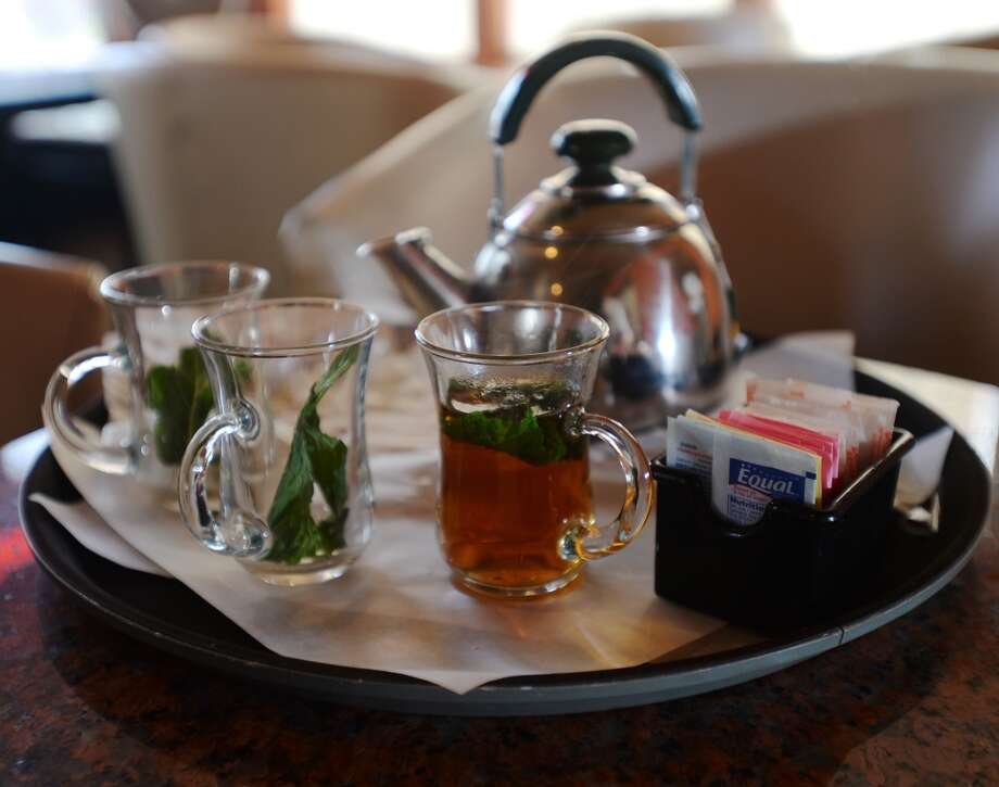 Among the drinks served at the Jerusalem Hookah Cafe is mint tea. The Jerusalem Hookah Cafe has been serving up Middle Eastern cuisine as well as hookahs to the Beaumont area since 2009. Photo taken Tuesday, 3/18/14 Jake Daniels/@JakeD_in_SETX