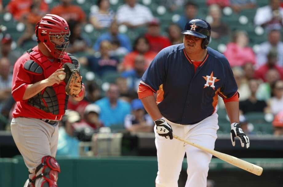 Japhet Amador of the Astros walks against the Rojos del Aguila de Veracruz. Photo: Melissa Phillip, Houston Chronicle