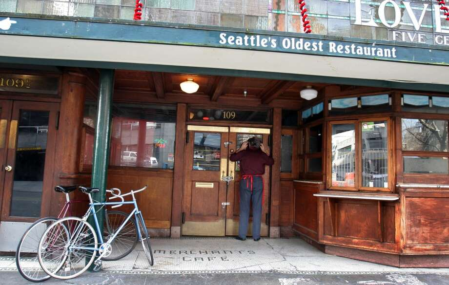 Merchants Café:This Pioneer Square institution is supposedly Seattle's oldest restaurant, having opened in 1890. It has closed down at least twice in modern times and Yelp reviews aren't stellar, but it is indeed old. Photo: Meryl Schenker, P-I