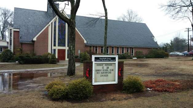 A cell phone tower is proposed for construction on the property of Fairfield Grace United Methodist Church at 1089 Fairfield Woods Road. Photo: Andrew Brophy / Fairfield Citizen