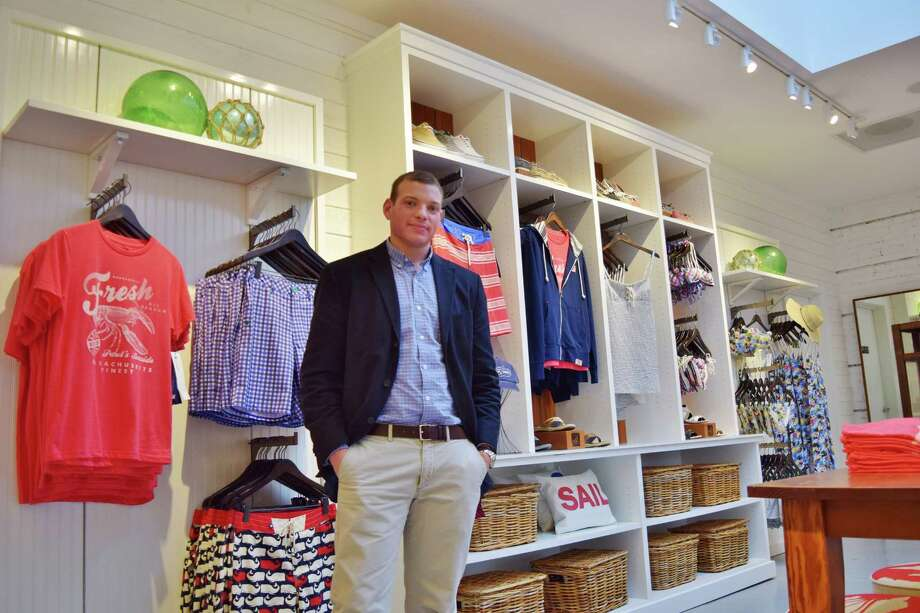 David Meyer is the manager of the new Sperry Top-Sider store that recently opened on Main Street. Photo: Todd Tracy / Westport New