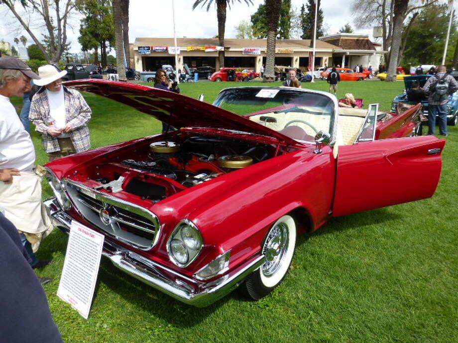 The engine of the Grossmans' 1961 Chrysler 300G.