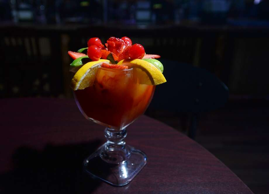 Pictured is a Passion Fruit Rita, prepared at Jungle Sports Bar and Grill. The newly opened Jungle Sports Bar and Grill in Nederland is the CAT5 Bar of the Week for March 27, 2014. Photo taken Wednesday, 3/19/14 Jake Daniels/@JakeD_in_SETX