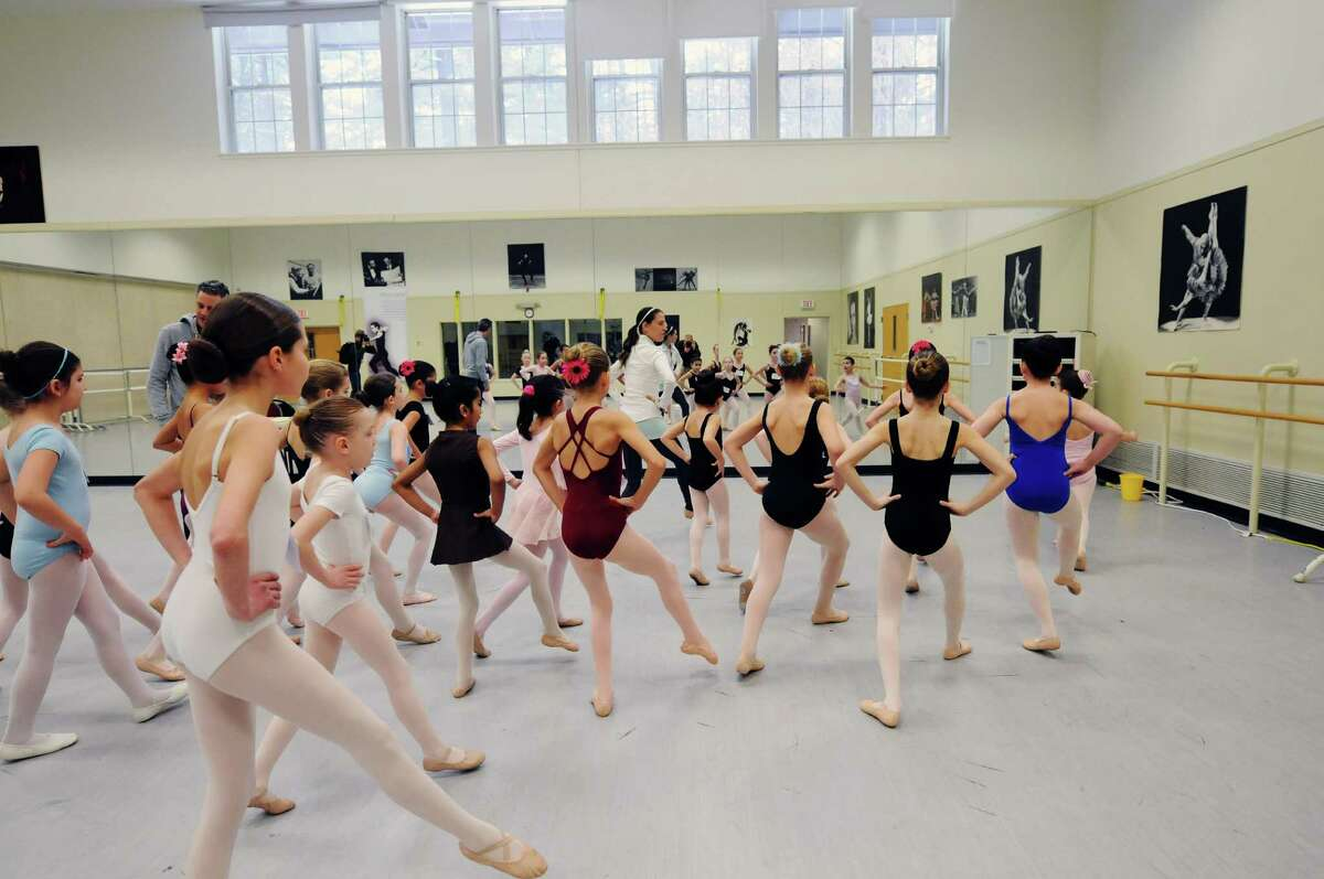 Girls run through steps as a group during tryouts for a New York City Ballet performance this summer on Sunday, March 30, 2014, at the National Museum of Dance in Saratoga Springs, N.Y. One hundred girls tried out for the 48 spots. The girls chosen will perform with the New York City Ballet this summer at SPAC in the Circus Polka. (Paul Buckowski / Times Union)