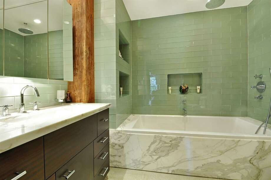 """Spa"" bath. Photos via Corcoran Group and Zillow Blog"