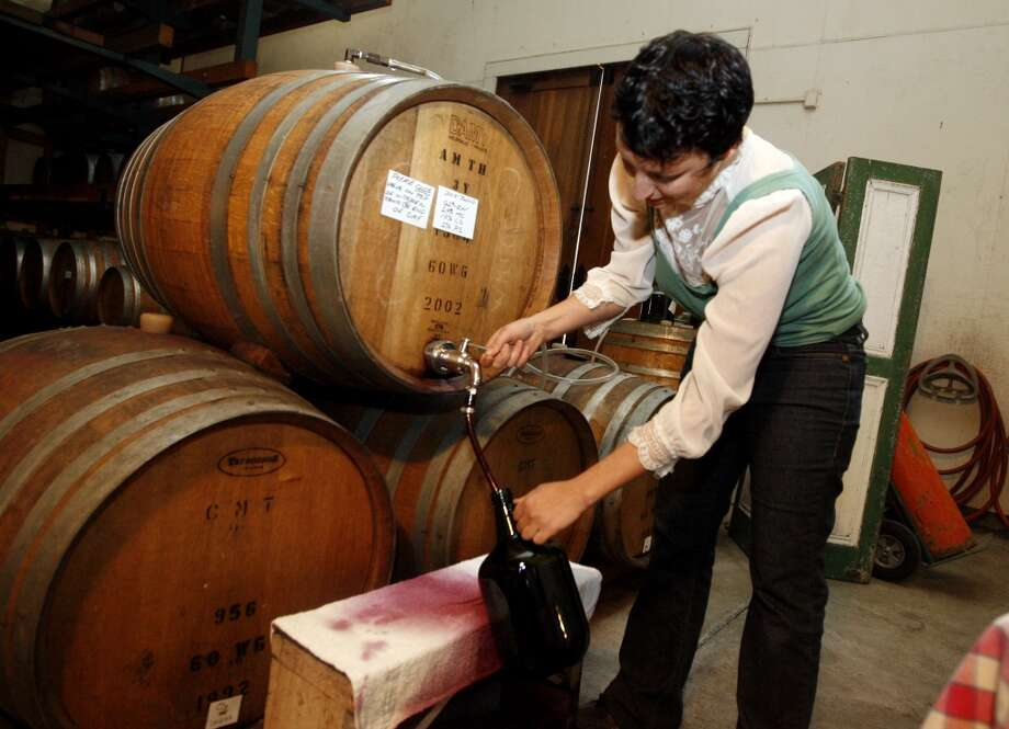 Straight from barrel to jug at Preston Vineyards (available on Sundays). Photo: Katy Raddatz, The Chronicle