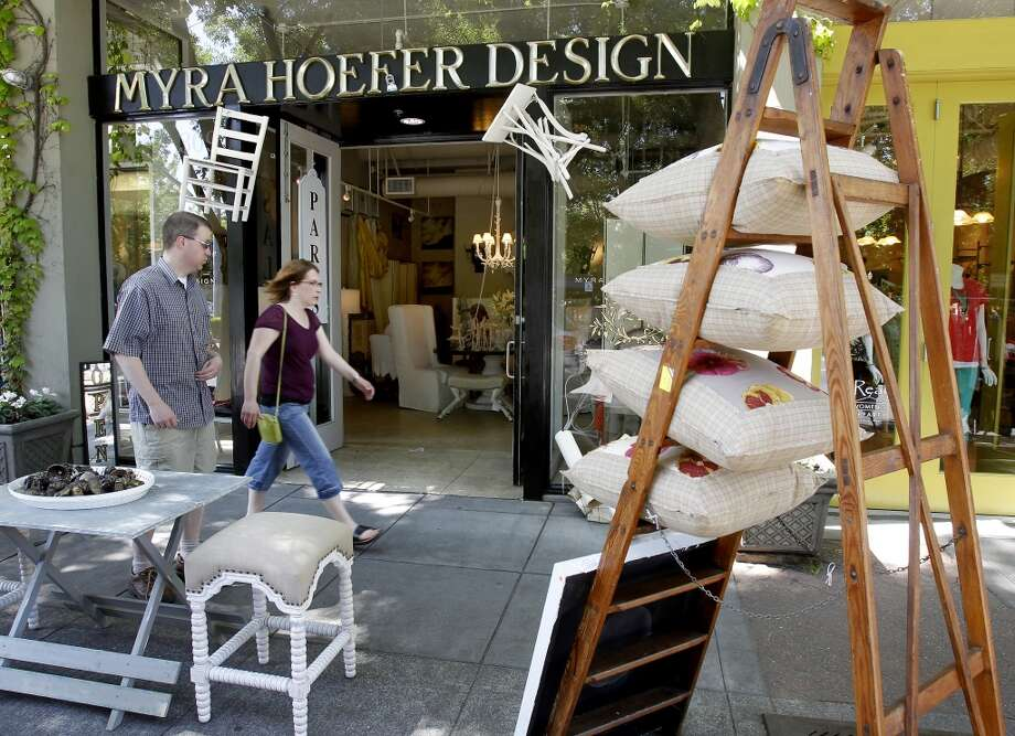 The Myra Hoefer design studio is just one of multiple furniture and housewares shops in town. Photo: Brant Ward, The Chronicle