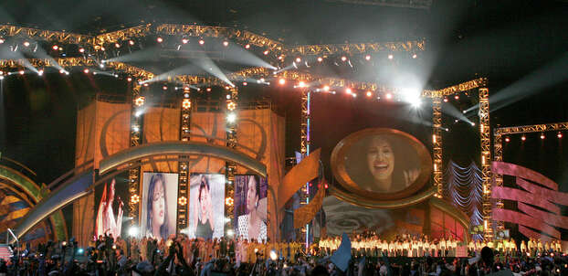 Stage for Selena Tribute concert