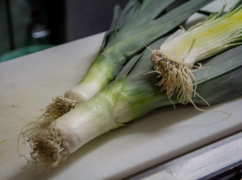 Leeks in the kitchen at Sabrosa in San Francisco, Calif., are seen on Saturday, March 22nd, 2014. Photo: Special To The Chronicle