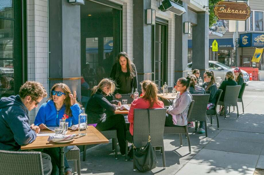 People enjoy lunch outside at Sabrosa in San Francisco, Calif., on Saturday, March 22nd, 2014. Photo: Special To The Chronicle