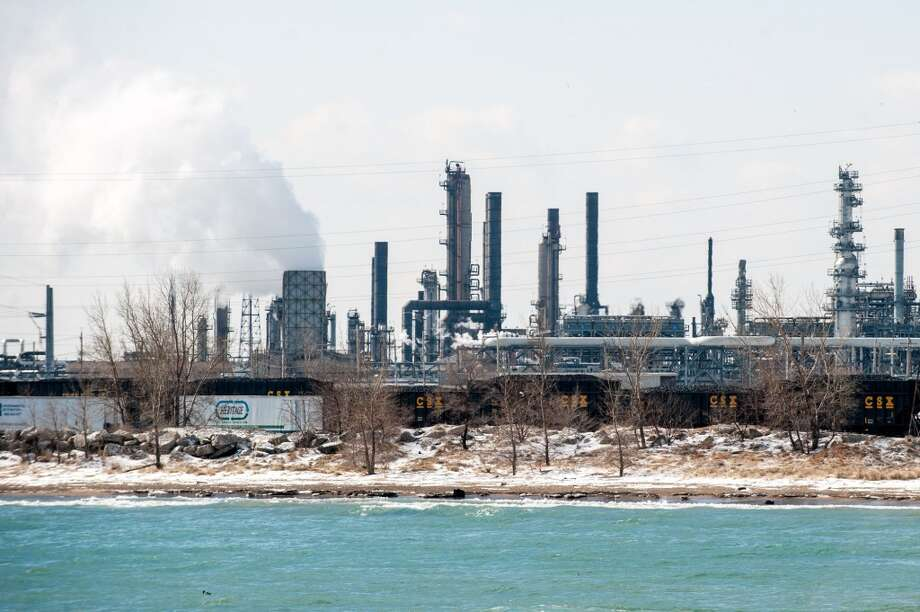 BP's Whiting Refinery is seen along the shore of Lake Michigan on Tuesday, March 25, 2014, in Whiting, Ind. BP says it is assessing how much crude oil entered Lake Michigan following a malfunction at its northwestern Indiana refinery. Photo: Kyle Telechan, ASSOCIATED PRESS
