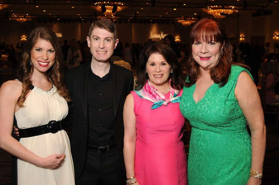 From left: Stephanie Moody, James Napier, Christine Napier and Barbara Van Postman Photo: Dave Rossman, For The Houston Chronicle