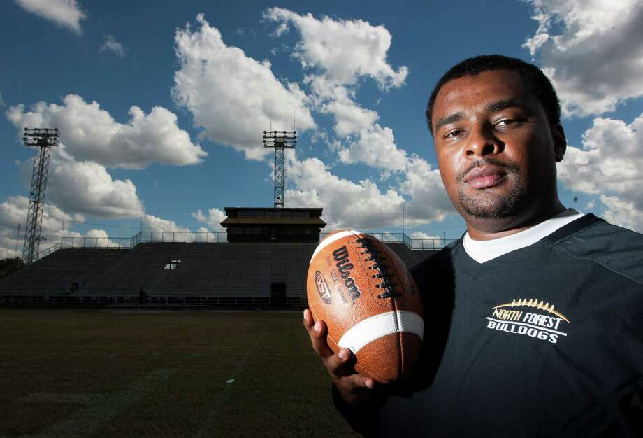 North Forest head football coach Plez Atkins poses for a portrait on Friday, Nov. 2, 2012, in Houston. ( J. Patric Schneider / For the Chronicle ) Photo: J. Patric Schneider, Freelance / © 2012 Houston Chronicle