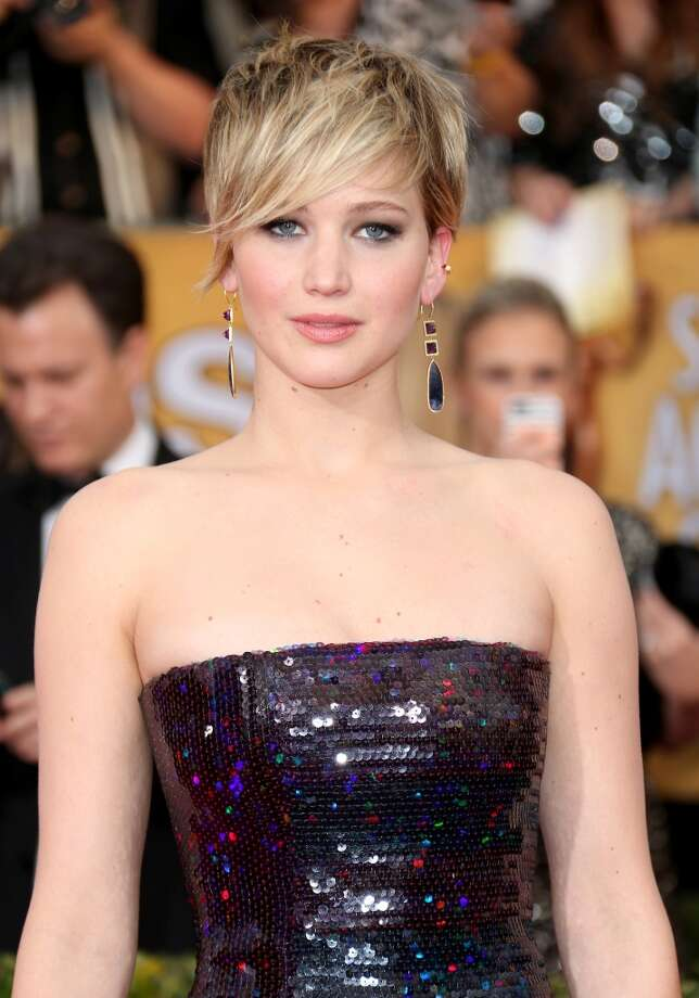 Jennifer Lawrence may be known for her goofball antics, but her short hair is sleek and sophisticated. Photo: Dan MacMedan, WireImage