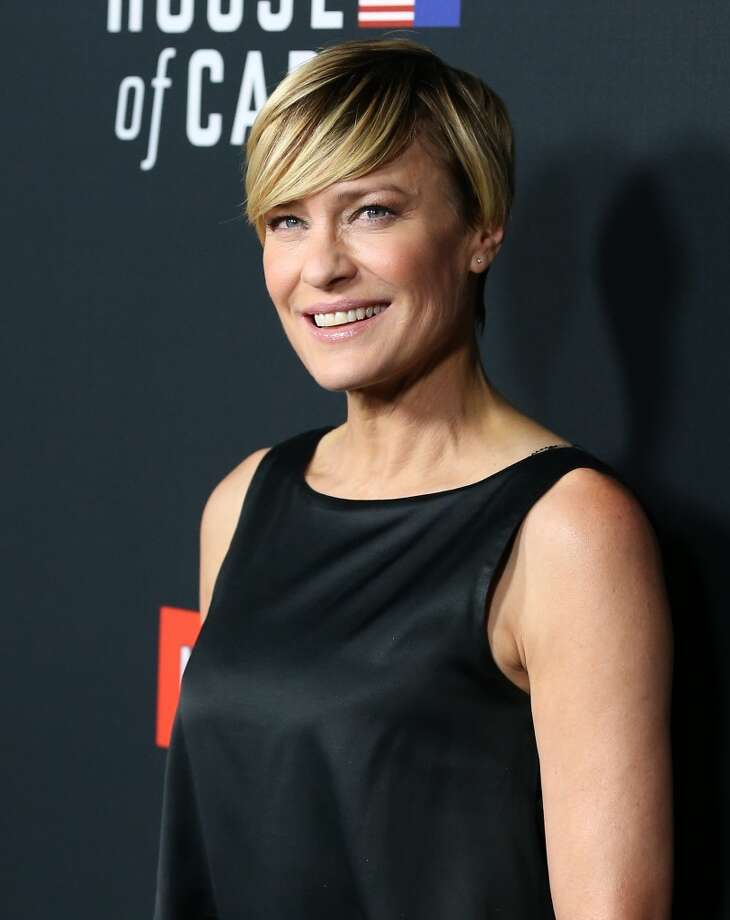 "Speaking of powerful, Robin Wright's cut is perfect for her fierce portrayal of Claire Underwood on ""House of Cards."" Photo: JB Lacroix, WireImage"