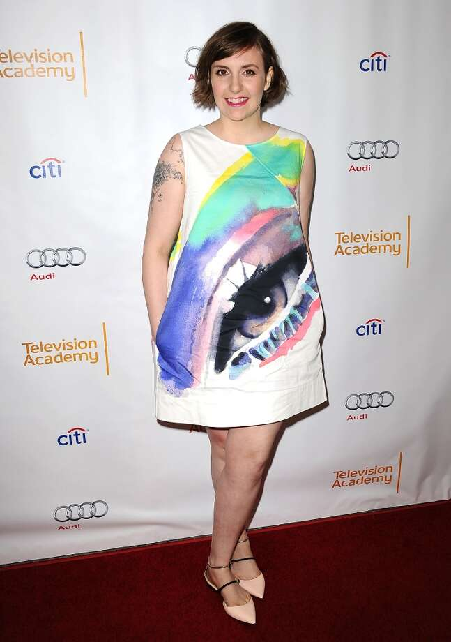 Lena Dunham's 'do is cute and easy. Photo: Jason LaVeris, FilmMagic
