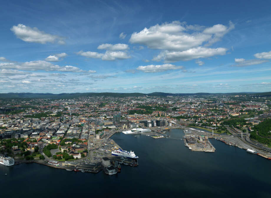 Aerial of Oslo City Photo: Erika Tirén/Magic Air, Getty Images / (c) Erika Tirén/Magic Air