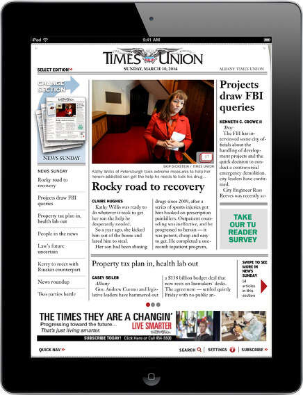 Times Union App for iPad