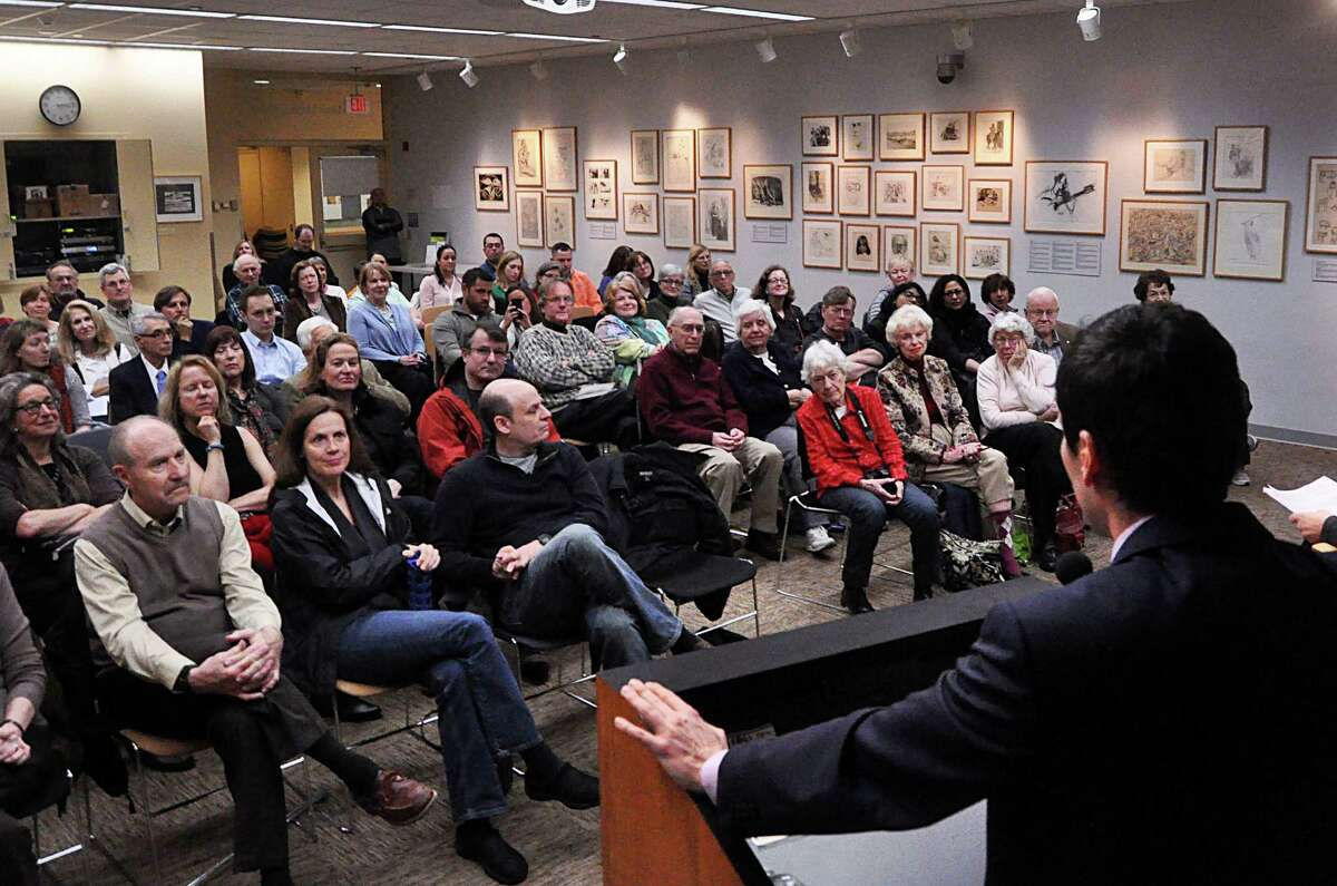 Kenan Trebincevic -- whose family was given refuge in Westport during the Balkan conflicts -- discusses his book, ìThe Bosnia List: A Memoir of War, Exile, and Return,î Saturday at the Westport Library.