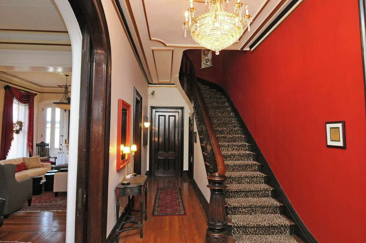 A view of the entrance hall at the offices of Spiral Design Studio on Monday, March 24, 2014, in Cohoes, N.Y. (Paul Buckowski / Times Union)