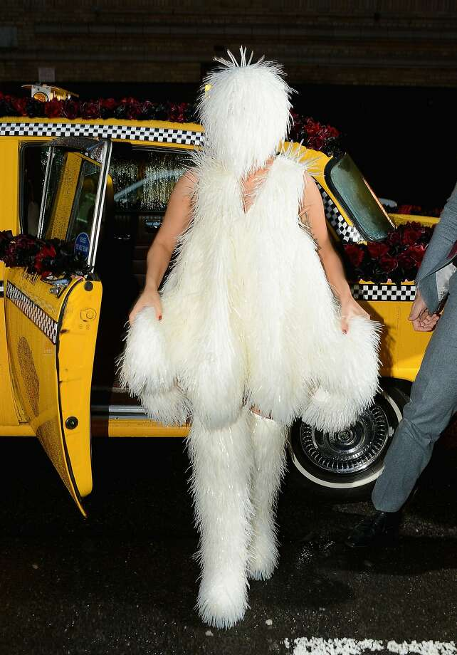 How do we know it's really her?Lady Gaga arrives at the Roseland 