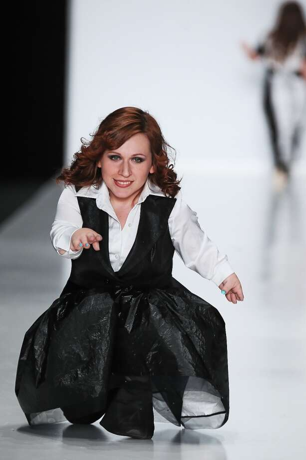 A model walks the runway at the Fashion Without Borders - Sabina Gorelik show on day 5 of Mercedes-Benz Fashion Week Russia F/W 2014-2015 on March 31, 2014 in Moscow. Photo: Epsilon, Getty Images
