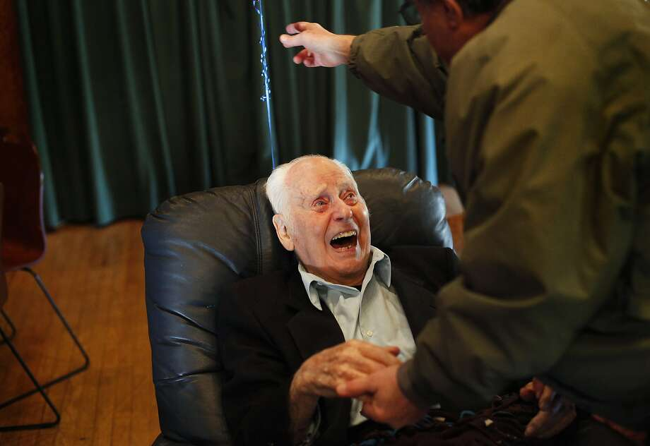 Marc Platt celebrated his 100th birthday in December. He died Saturday. Photo: Sarah Rice, Special To The Chronicle
