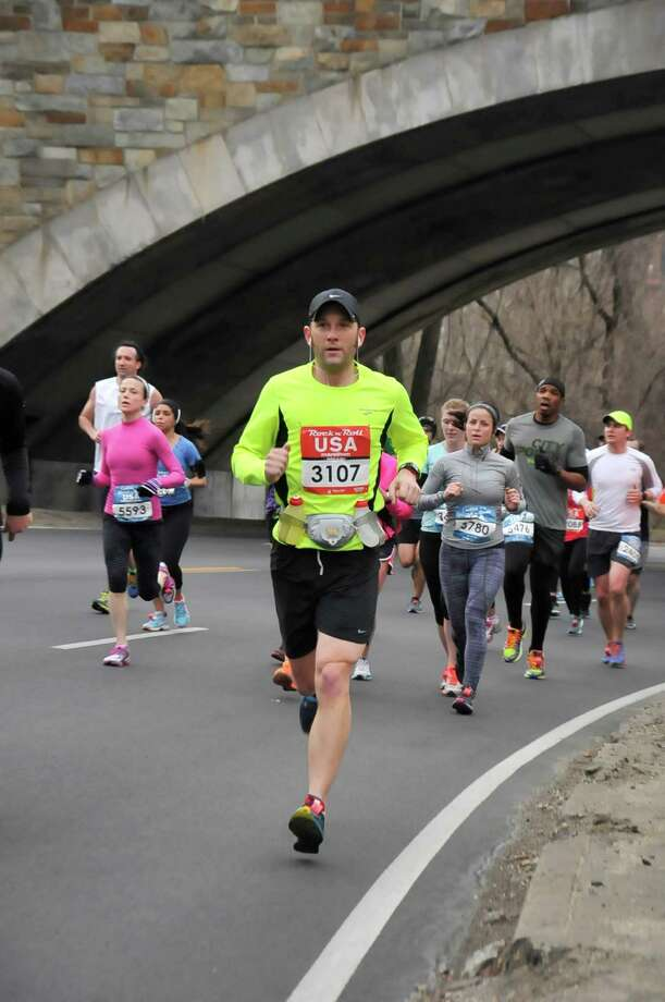 Bill Brucker, communications director of Family Centers, participated in the 2014 Rock 'n Roll USA Marathon March 15 and collected nearly $3,000 in donations to help his organization. Photo: Contributed Photo, Contributed / New Canaan News Contributed