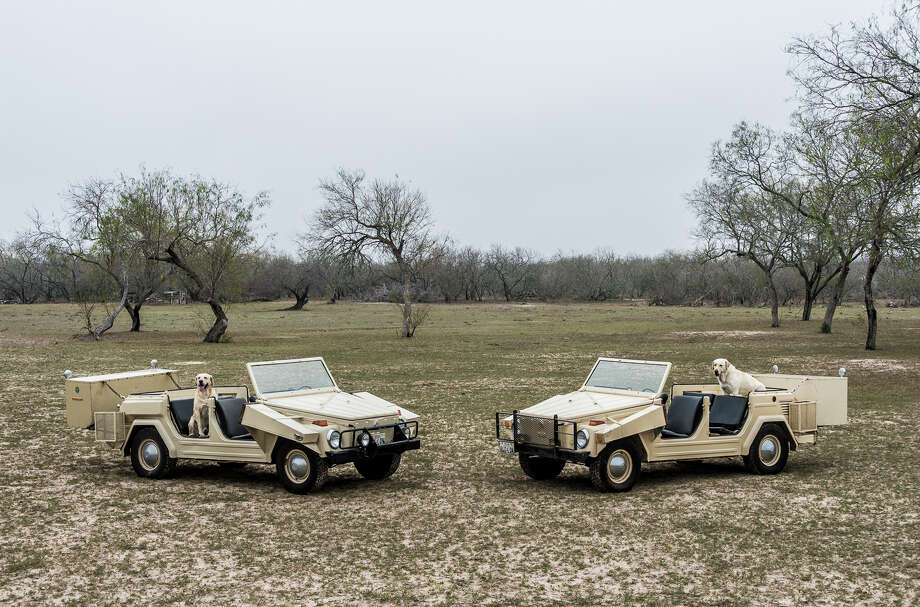"I bought the VW in 1973, for "" Quail Hunting"" and liked it so much that I ordered a second one for my Wife, who is a great shot! It was competitive to see which hunting car brought in the most Quail Photo: Fausto Yturria Jr. (left) Sandra L. Yturria (right), Lokey Photography, Courtesy / ©2013LokeyPhotography.com"
