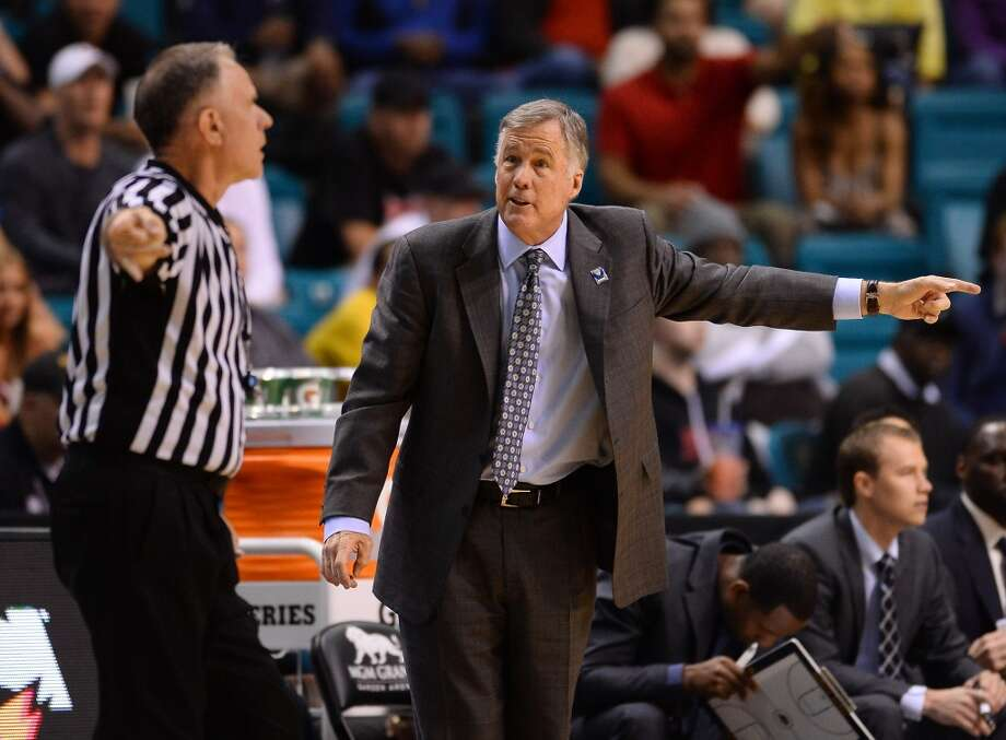 Head coach Mike Montgomery of the California Golden Bears questions an official's call during a quarterfinal game of the Pac-12 Basketball Tournament against the Colorado Buffaloes at the MGM Grand Garden Arena on March 13, 2014 in Las Vegas, Nevada. Photo: Ethan Miller, Getty Images