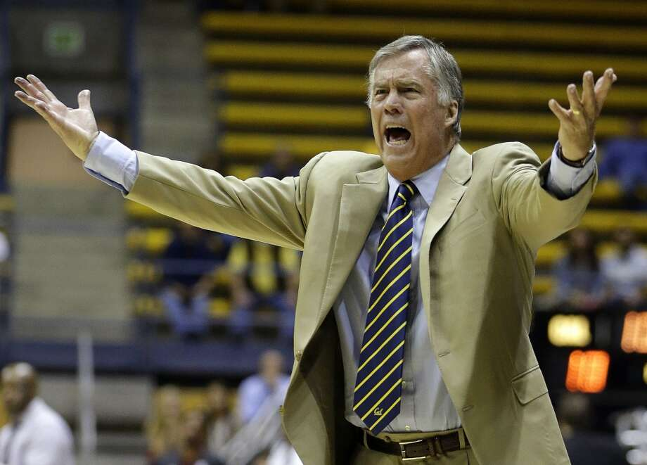 California's Mike Montgomery gestures from the sideline in the first half of an NCAA college basketball game against Arkansas in the NIT tournament Monday, March 24, 2014, in Berkeley, Calif. Photo: Ben Margot, Associated Press