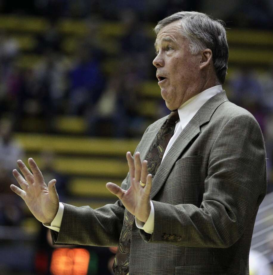 California coach Mike Montgomery gestures from the sideline during the second half of an NCAA college basketball game against Pepperdine on Tuesday, Nov. 13, 2012, in Berkeley, Calif. Photo: Ben Margot, Associated Press