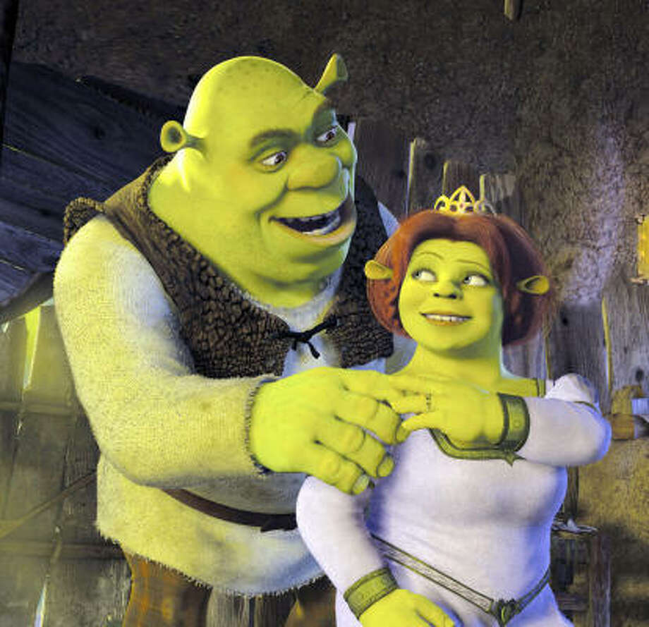 'Shrek,'2001. It's kind of like 'Beauty and the Beast' meets 'Sleeping Beauty' meets the color green.   Photo: AP