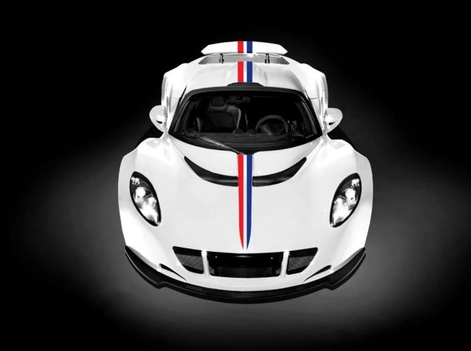 The new Hennessey Venom GT production car will have a patriotic paint job. Photo: Hennessey