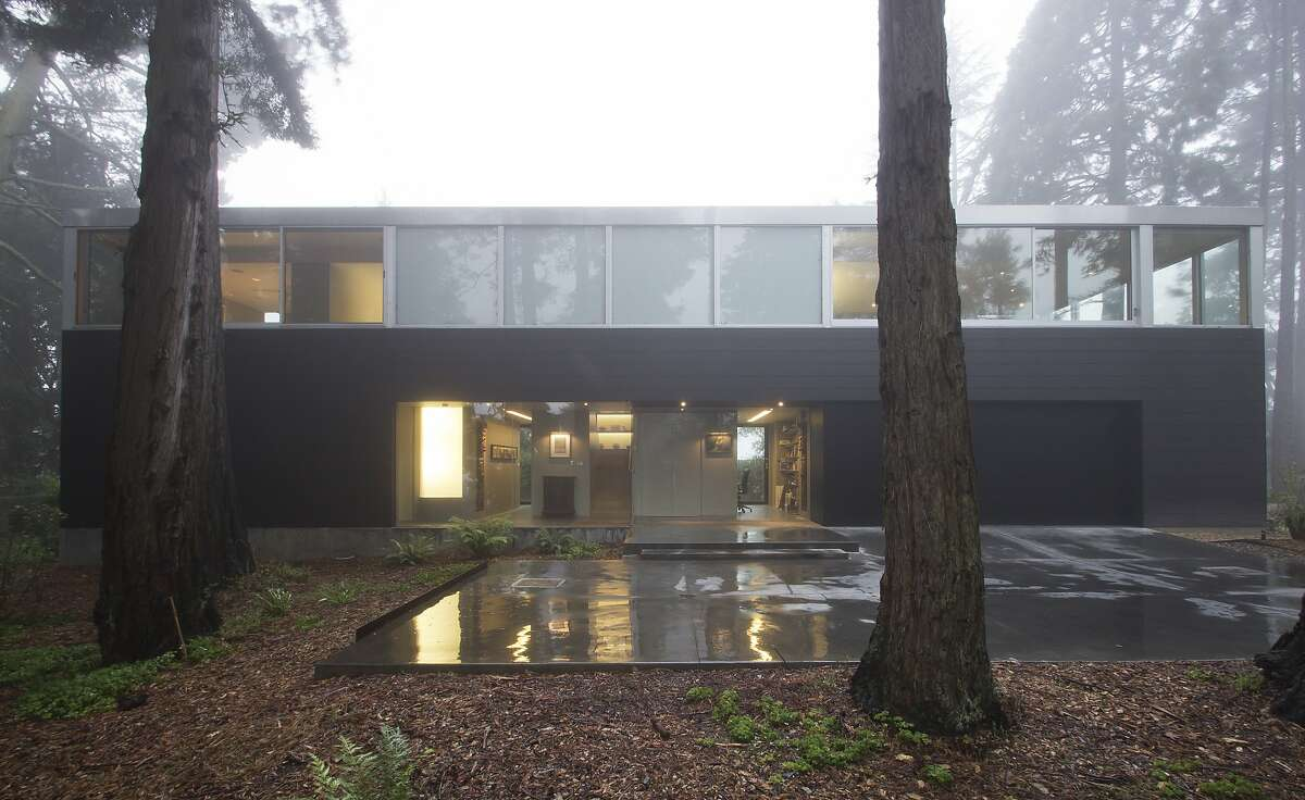 Architect Regan Bice set the residence in a redwood grove with filtered views of the bay and Tilden Park.