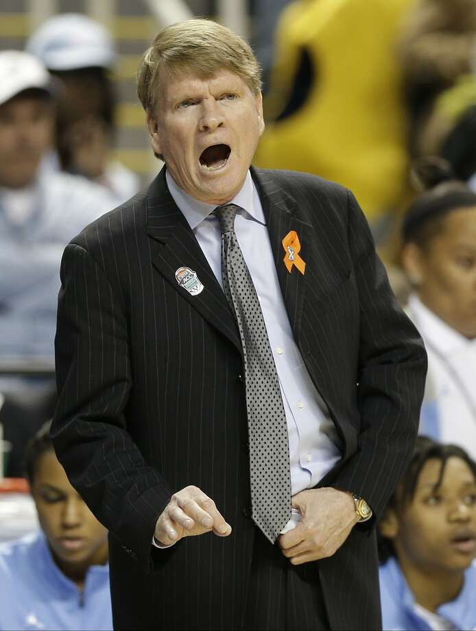 North Carolina associate head coach Andrew Calder has guided the Tar Heels in the absence of Sylvia Hatchell. Photo: Chuck Burton, Associated Press