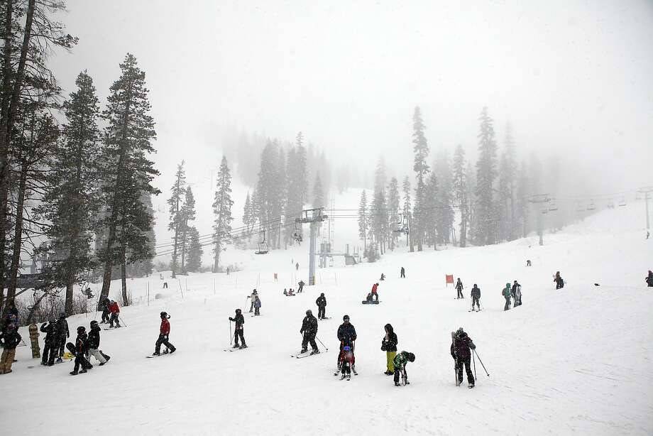 Snow has been known to fall in Tahoe as late as July, so it may be too soon to concede that the drought is irreversible. Photo: Michael Short, The Chronicle