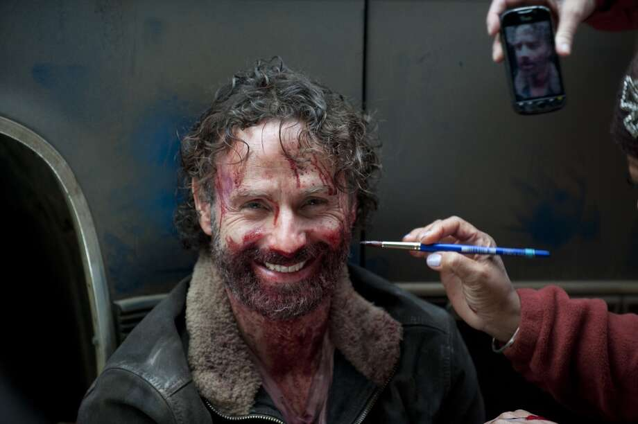 Andrew Lincoln- The Walking Dead _ BTS - Season 4, Episode 16 - Photo Credit: Gene Page/AMC