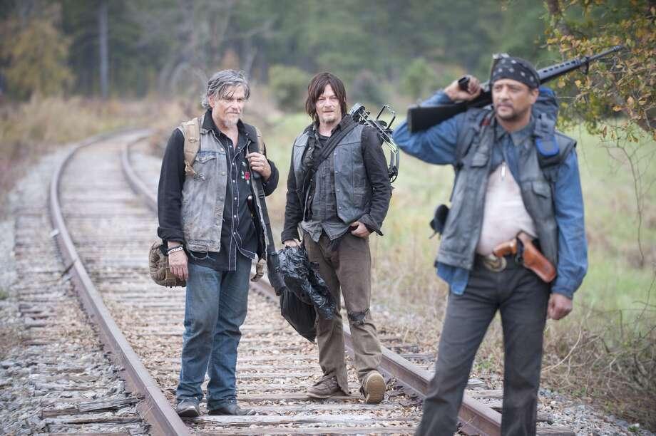 Jeff Kober, Daryl Dixon (Norman Reedus) and Davi Jay on 'The Walking Dead' Season: 4 Episode: 15.